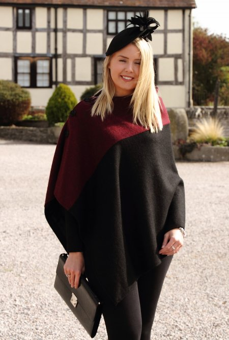 Harris Tweed Bordeaux Cape