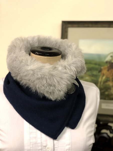 Aboyne Harris Tweed & Faux Fur Neck Wrap