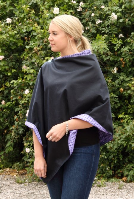 Navy Wax Cape