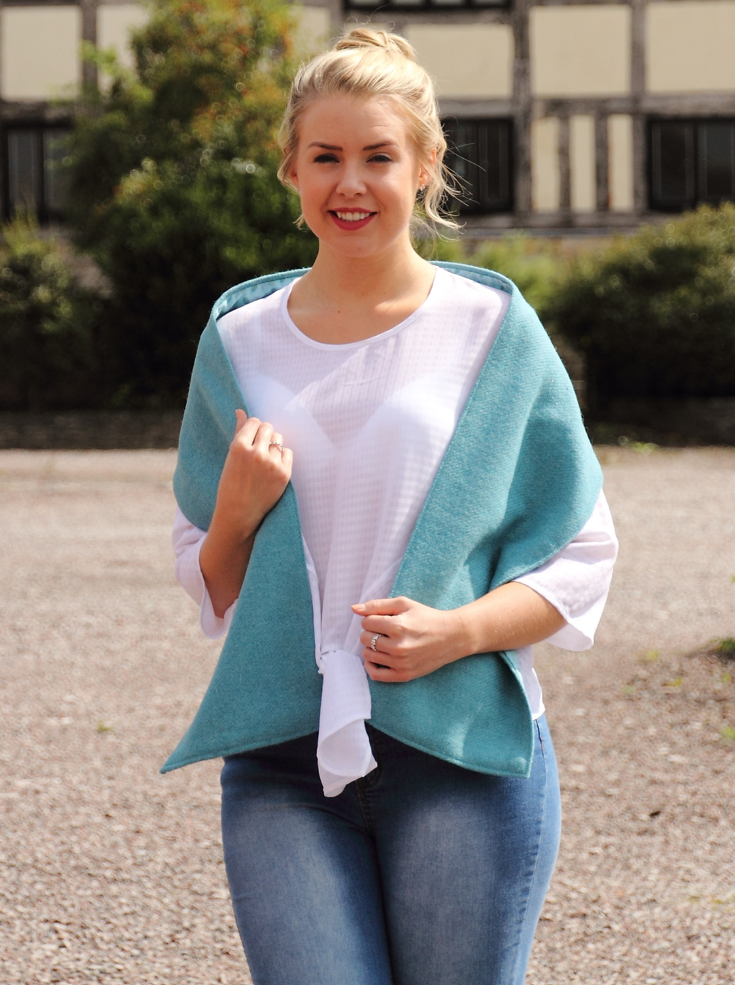 Harris Tweed Aqua Scarf